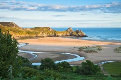 Three Cliffs Bay Gower Peninsula County of Swansea South Coastal Scenery